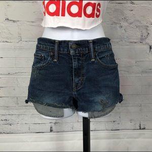 Levi's Distressed Denim Cut Off Jean Shorts 1141